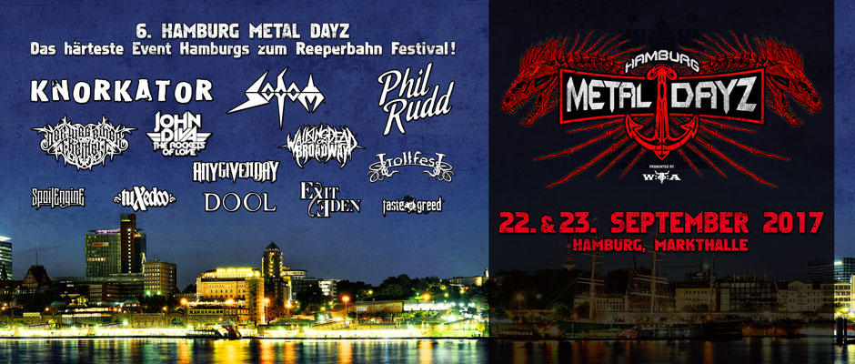 2017 with Knorkator, Sodom, Phil Rudd, Any Given Day, Der Weg Einer Freiheit and many more!