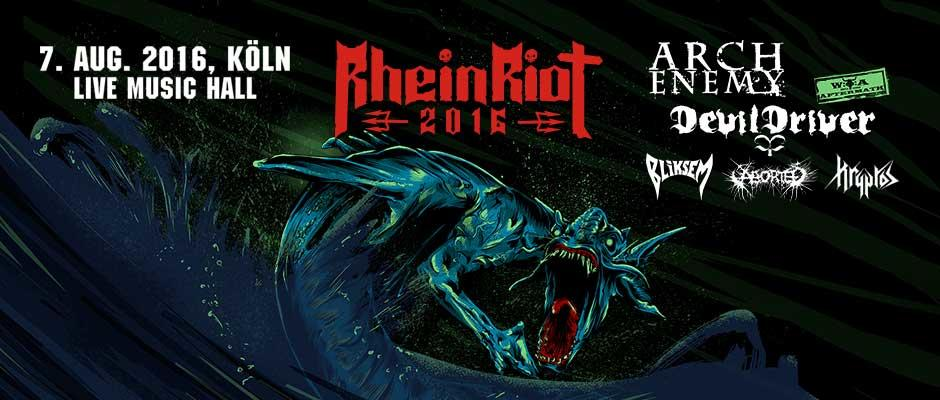 Arch Enemy, Devildriver, Aborted, Kryptos and Bliksem will make Cologne shudder!