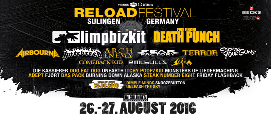 See you on the Battlefield with Five Finger Death Punch, Limp Bizkiz, Airbourne, Sodom and many more!